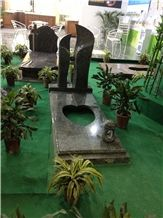 Supply Black Granite European Monument Headstone with Sculpture