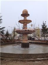 Dw Big Granite and Marble Fountain with Ball,Triplex