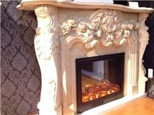 Hebei White Marble Fireplace Mantel