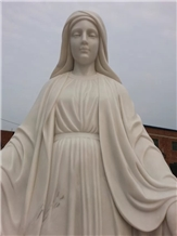 White Marble Sculpture Virgin Mary