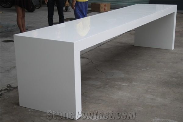Long Dining Table, Restaurant Table, Artificial Marble Table