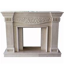 Wellest Beige Marble Fireplace Model No.Sfp003