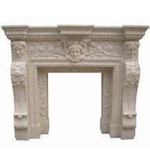 Wellest Beige Marble Fireplace Model No.Sfp004