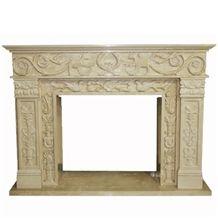 Wellest Beige Marble Fireplace Model No.Sfp007