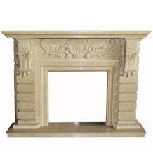 Wellest Beige Marble Fireplace Model No.Sfp008