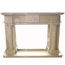 Wellest Beige Marble Fireplace Model No.Sfp009