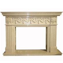 Wellest Beige Marble Fireplace Model No.Sfp010