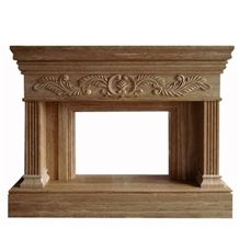 Wellest Brown Marble Fireplace Model No.Sfp006