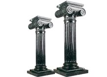 Wellest Dark Green Marble Solid & Hollow Configuration Antique Roman Columns, Greek Columns,Model Rp019