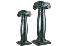 Wellest Dark Green Marble Solid & Hollow Configuration Antique Roman Columns, Greek Columns,Model Rp031