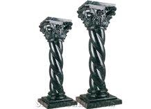 Wellest Dark Green Marble Solid & Hollow Configuration Antique Roman Columns, Greek Columns,Model Rp032