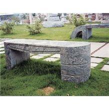 Wellest G261 Juparana Grey Granite Bench,Exterior & Outside Garden Bench,Stc 043