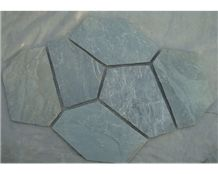 Wellest Green Slate Flagstone,Meshed Paver Stone,6 Pieces Type,Item No.Ms004