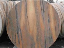 Wellest M108 Sunset Red Marble Table Top, Restaurant Top,Round Top, Round Table