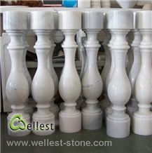 Wellest M500 Guangxi White Marble Baluster,Balustrade,China White Marble Baluster