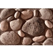 Wellest Manmade Artificial Pebble Stone for Wall,Fireplace Breast,Item No. Wte-04