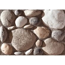 Wellest Manmade Artificial Pebble Stone for Wall, Fireplace Breast,Item No. Wte-05
