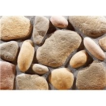 Wellest Manmade Artificial Pebble Stone for Wall,Fireplace Breast,Item No. Wte-E-02