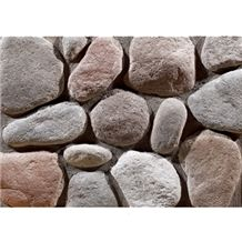 Wellest Manmade Artificial Pebble Stone for Wall,Fireplace Breast,Item No. Wte-E-16