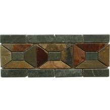 Wellest Multi Color Rusty Slate Molding & Border, China Slate Skirting,Model No. Sms007