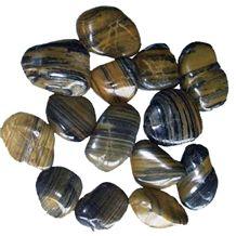 Wellest Polished Tiger Sink Color Natural Pebble Stone,River Stone,Gravels,Item No.Sps205