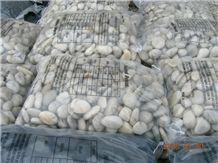 Wellest Polished White Color Natural Pebble Stone,River Stone,Gravels,Item No.Sps201