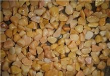 Wellest Super Small Yellow Color Natural Pebble Stone,River Stone,Gravels,Item No.Sps213