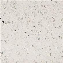 Wellest White Galaxy Quartz Tile and Slab