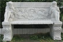 Wellest White Marble Chair,Exterior & Outside Garden Stone Chair,Stc 047