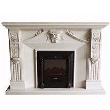 Wellest White Marble Fireplace Model No.Sfp005