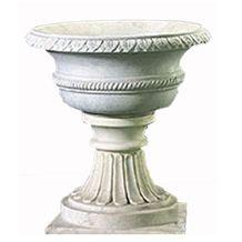 Wellest White Marble Round Garden Flower Pot,Natural Stone Outside Garden Flower Pot,Item No.Sgp008