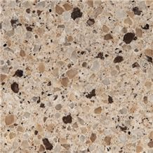 Wellest Wm011 Ivory Cream Quartz Tile and Slab