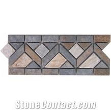 Wellest Yellow Wood Slate Molding & Border, China Slate Skirting,Model No. Sms009
