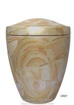 Pakistan Burma Teak Wood Marble Urn