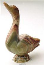 Swan Animal Figure, Multi Green Onyx Home Decor