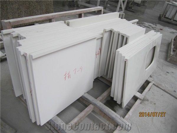 Engineered Quartz Stone Slabs Pure White Quartz White Quartzite
