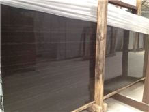 Black Wood Gainy Marble Slabs & Tiles/ China Black Wood Marble Slabs & Tiles