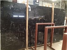 Castle Black / New Spain Black Marquina Marble Slabs & Tiles