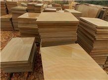 China Yellow Sandstone Slabs & Tiles