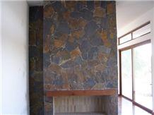 Fireplace Piedra Laja Negra Oxidada Surround
