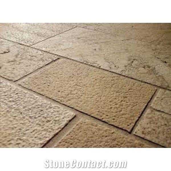 Terrassenplatten Muschelkalkstein Bush Hammered Limestone Tiles From Germany Stonecontact Com