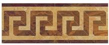Water Jet Border Greek Key Shown In:Giallo Real, Gold Onyx,Red Onyx