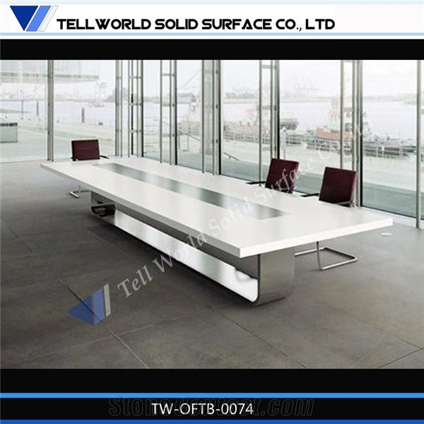 Modern Corian Meeting Table Design White Conference Tables