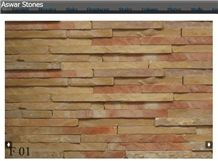 Jerusalem Royal Red Limestone Stacked Wall Panels, Wall Cladding Panels