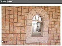 Jerusalem Royal Red Limestone Wall Tiles
