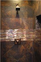 Natural Gauged Rust Slate Wall Tiles