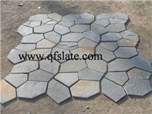 Beige Quartzite Flagstone Paver Wall Tile / Wall Panel