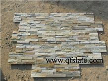 China Gold-Yellow Slate Ledge Stone,Slate Cultured Stone