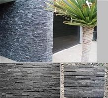 Hot Sale Black Quartzite Ledgestone ,Wall Panel Cultured Stone , Black Quartzite Wall Background,Split Face Culture Stone