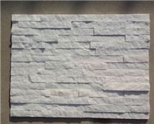 Natural Split Walling Panel Stone,White Quartzite Culture Stone,Stacked Stone,Pure White Quartzite Panel Stone,Stone Veneer,Stacked Stone,Ledgestone